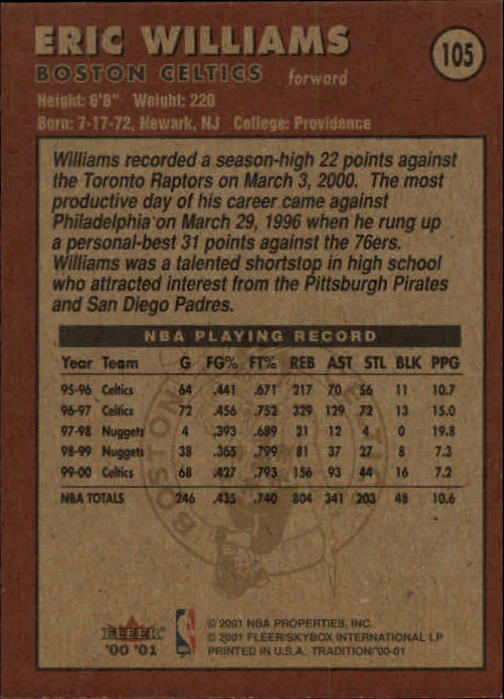 2000-01-Fleer-Basketball-Cards-Pick-From-List thumbnail 169