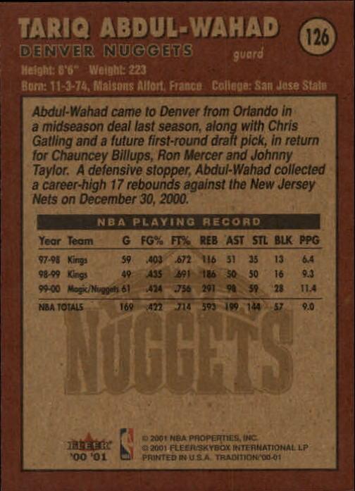 2000-01-Fleer-Basketball-Cards-Pick-From-List thumbnail 201