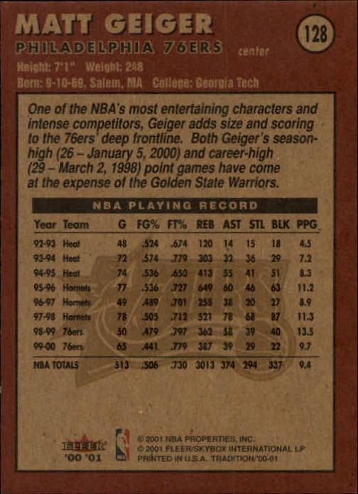 2000-01-Fleer-Basketball-Cards-Pick-From-List thumbnail 205