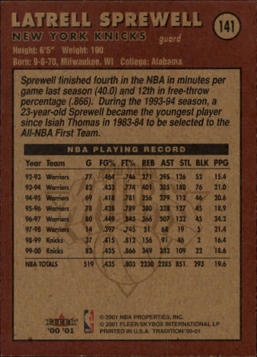 2000-01-Fleer-Basketball-Cards-Pick-From-List thumbnail 229