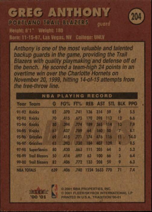 2000-01-Fleer-Basketball-Cards-Pick-From-List thumbnail 315