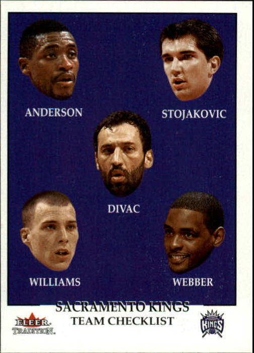 2000-01 Fleer #284 Nick Anderson/Peja Stojakovic/Vlade Divac/Jason Williams/Chris Webber