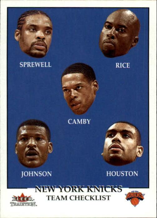 2000-01 Fleer #289 Latrell Sprewell/Glen Rice/Marcus Camby/Larry Johnson/Allan Houston