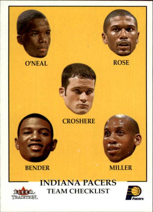 2000-01 Fleer #298 Jermaine O'Neal/Jalen Rose/Austin Croshere/Jonathan Bender/Reggie Miller