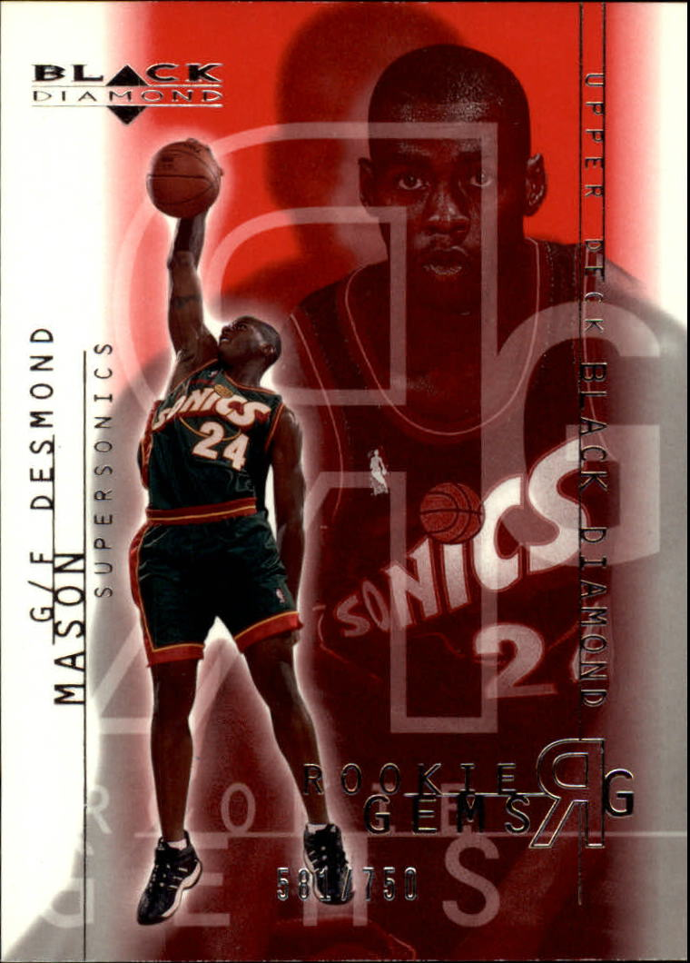 2000-01 Black Diamond #118 Desmond Mason RC