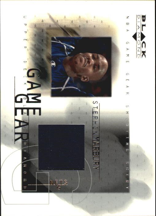 2000-01 Black Diamond Game Gear #SM Stephon Marbury