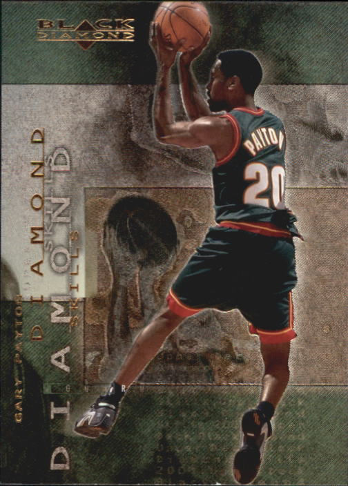 2000-01 Black Diamond Skills #DS4 Gary Payton