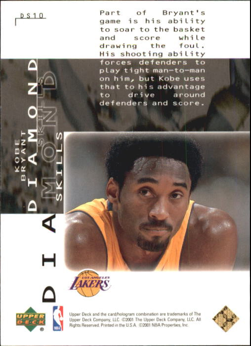 2000-01 Black Diamond Skills #DS10 Kobe Bryant back image