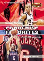 2000-01 Bowman's Best Franchise Favorites #FFJ4 Stephon Marbury/Kenyon Martin JSY
