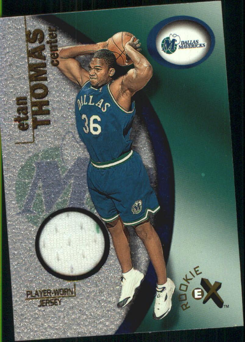 2000-01 E-X Rookie Memorabilia #121 Etan Thomas JSY/275
