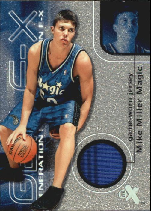 2000-01 E-X Generation E-X Game Jerseys #GE9 Mike Miller