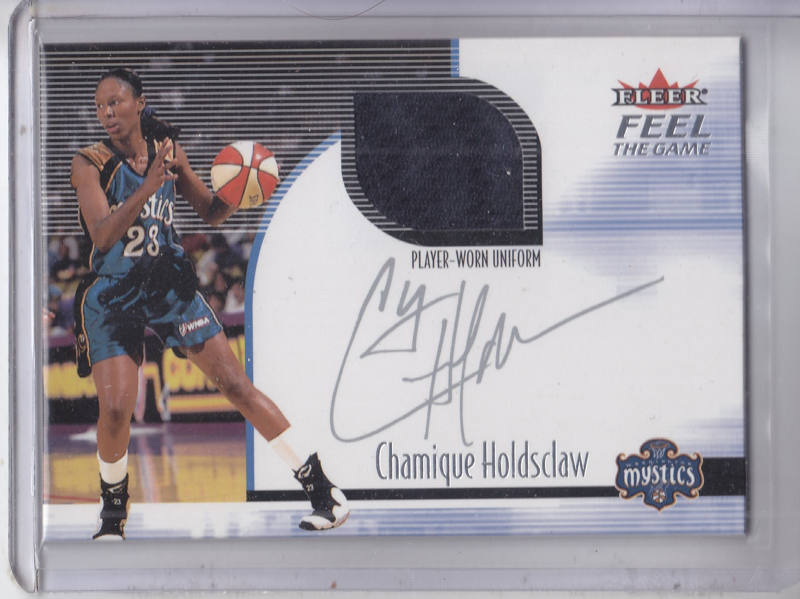 2001 Ultra WNBA Feel the Game #4 Chamique Holdsclaw