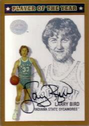 2001 Greats of the Game Player of the Year Autographs #POY3 Larry Bird/79