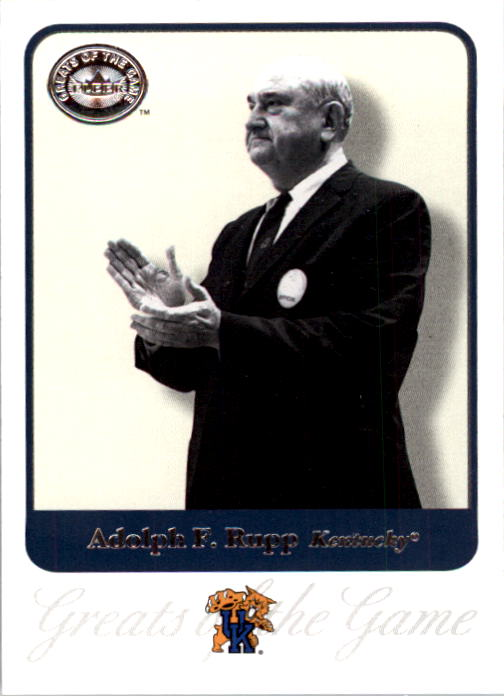 2001 Greats of the Game #1 Adolph Rupp