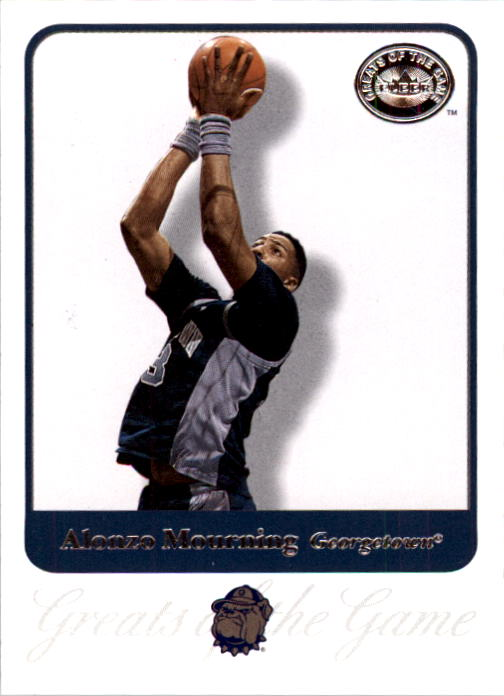 2001 Greats of the Game #2 Alonzo Mourning