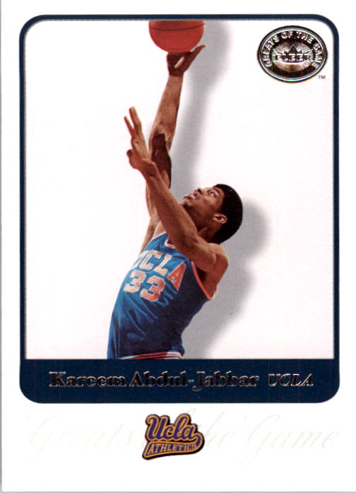 2001 Greats of the Game #44 Kareem Abdul-Jabbar