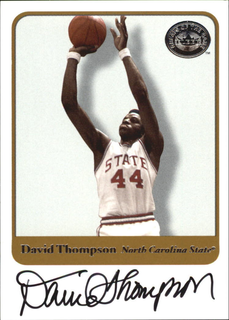 2001 Greats of the Game Autographs #57 David Thompson