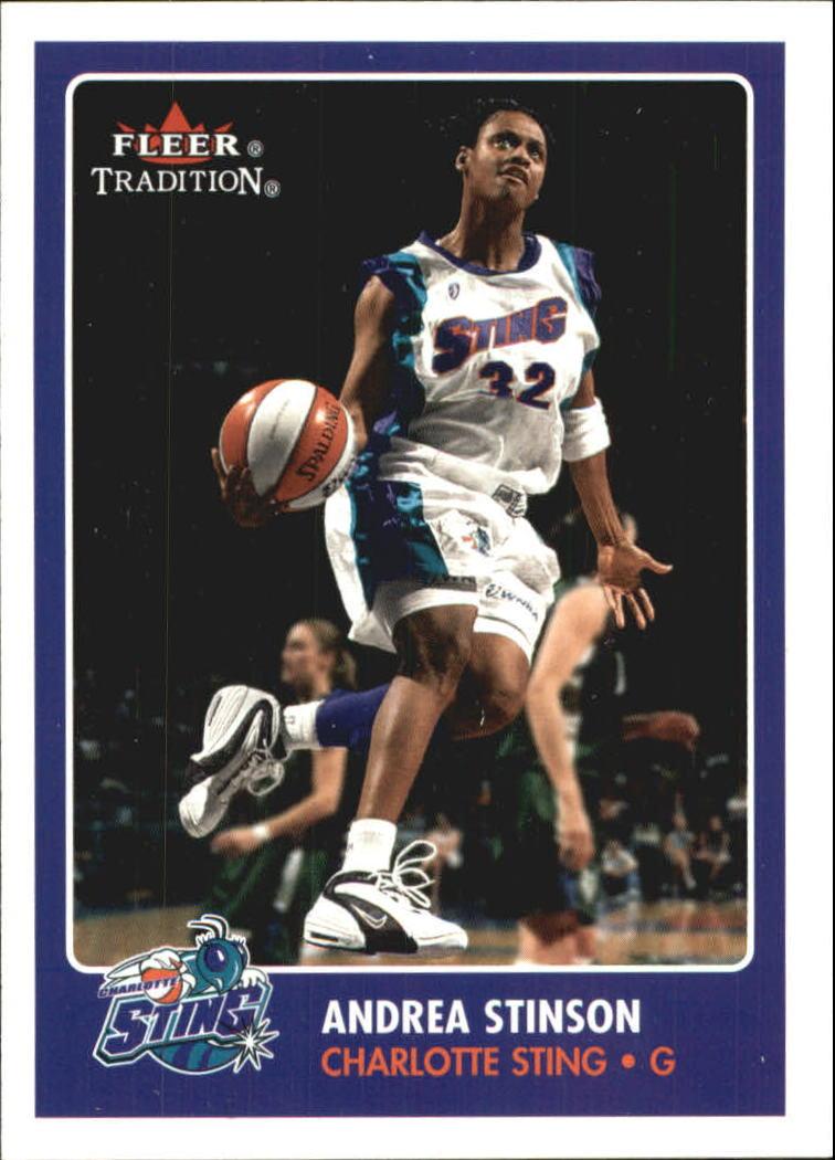 2001 Fleer WNBA #2 Andrea Stinson