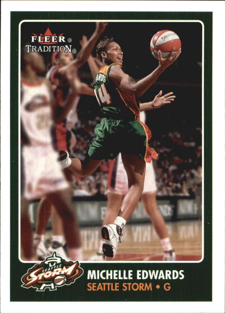 2001 Fleer WNBA #7 Michelle Edwards