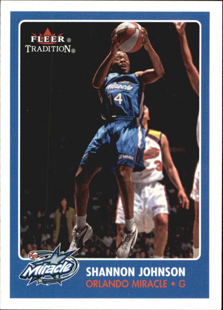 2001 Fleer WNBA #17 Shannon Johnson