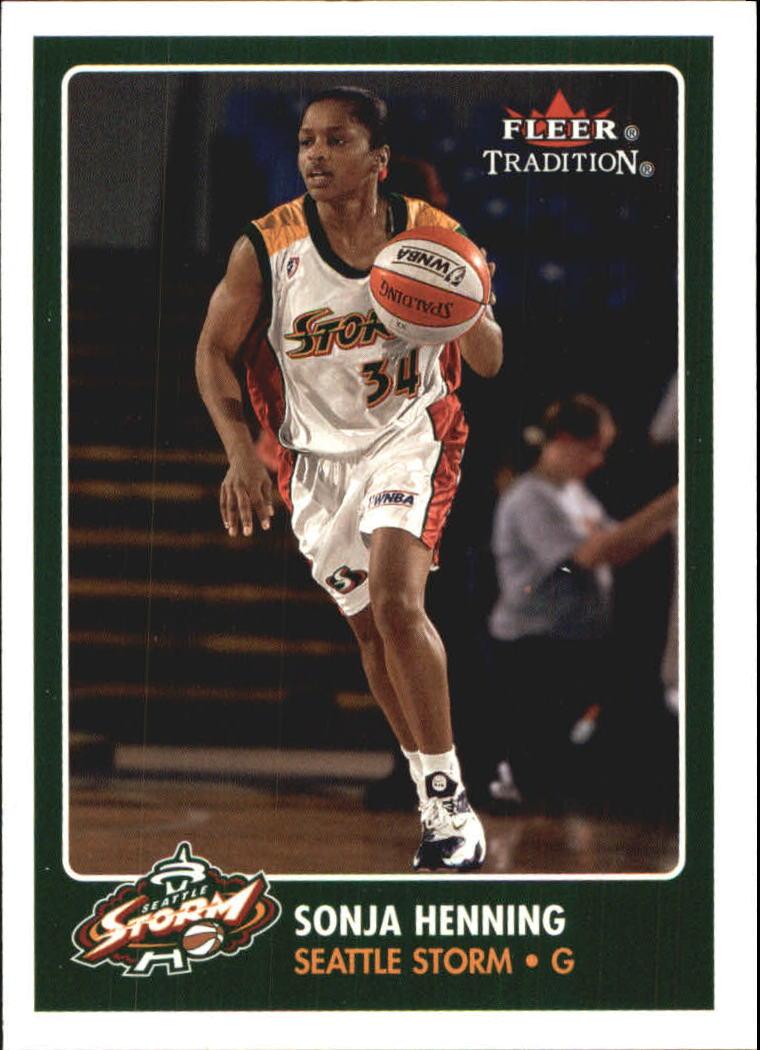 2001 Fleer WNBA #22 Sonja Henning