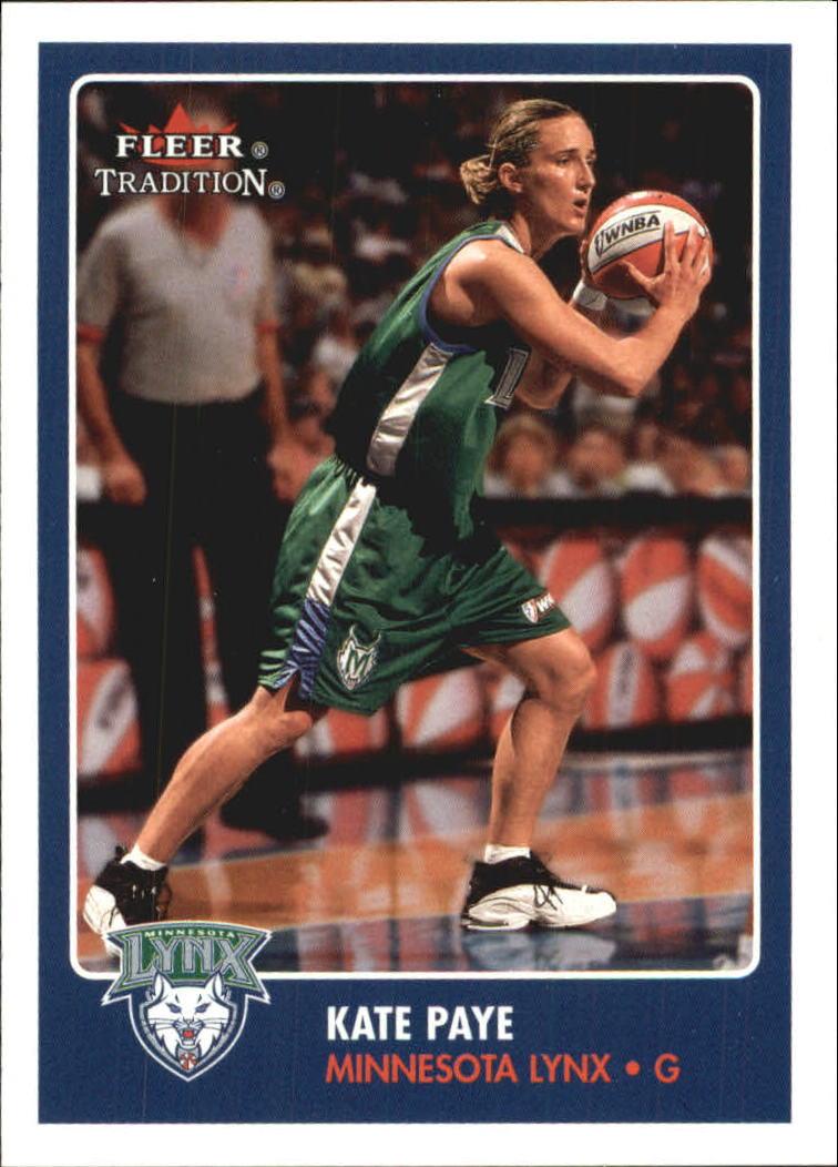2001 Fleer WNBA #25 Kate Paye RC