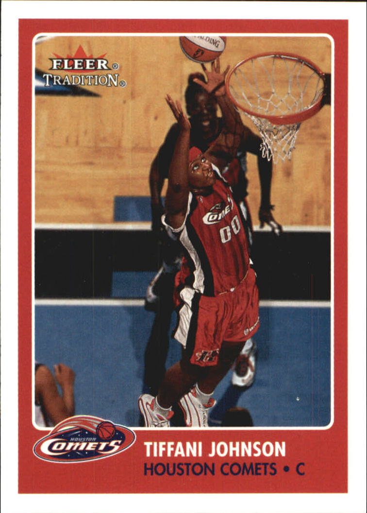 2001 Fleer WNBA #104 Tiffani Johnson RC