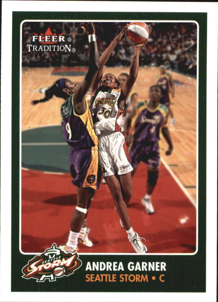 2001 Fleer WNBA #108 Andrea Garner RC