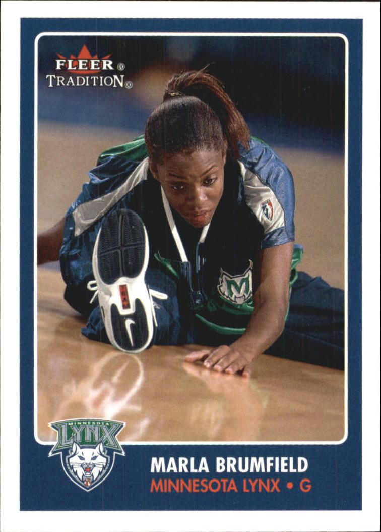 2001 Fleer WNBA #121 Marla Brumfield RC
