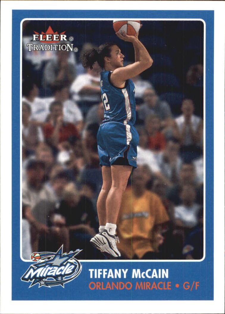 2001 Fleer WNBA #127 Tiffany McCain RC
