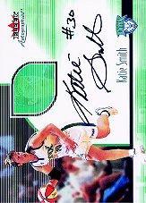 2001 Fleer WNBA Autographics #4 Katie Smith