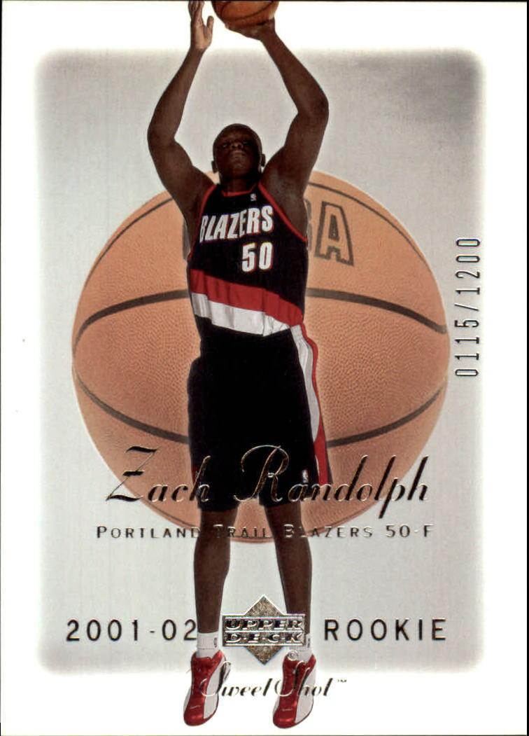 2001-02 Sweet Shot #91 Zach Randolph RC
