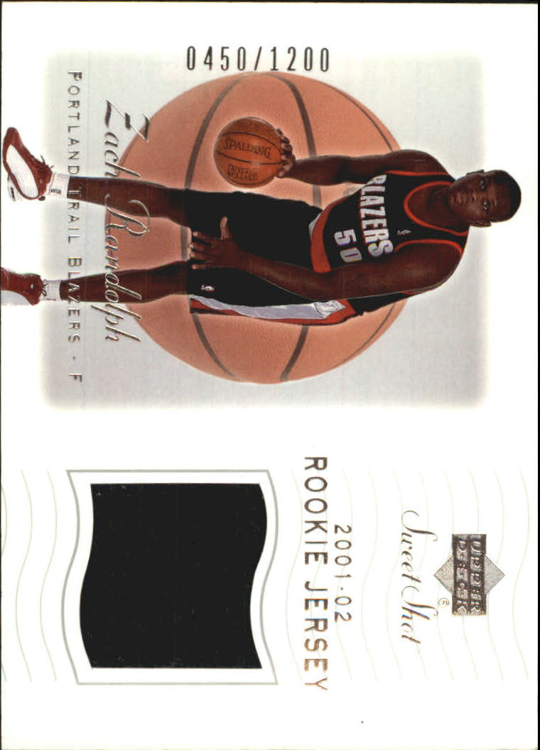 2001-02 Sweet Shot Rookie Memorabilia #91 Zach Randolph