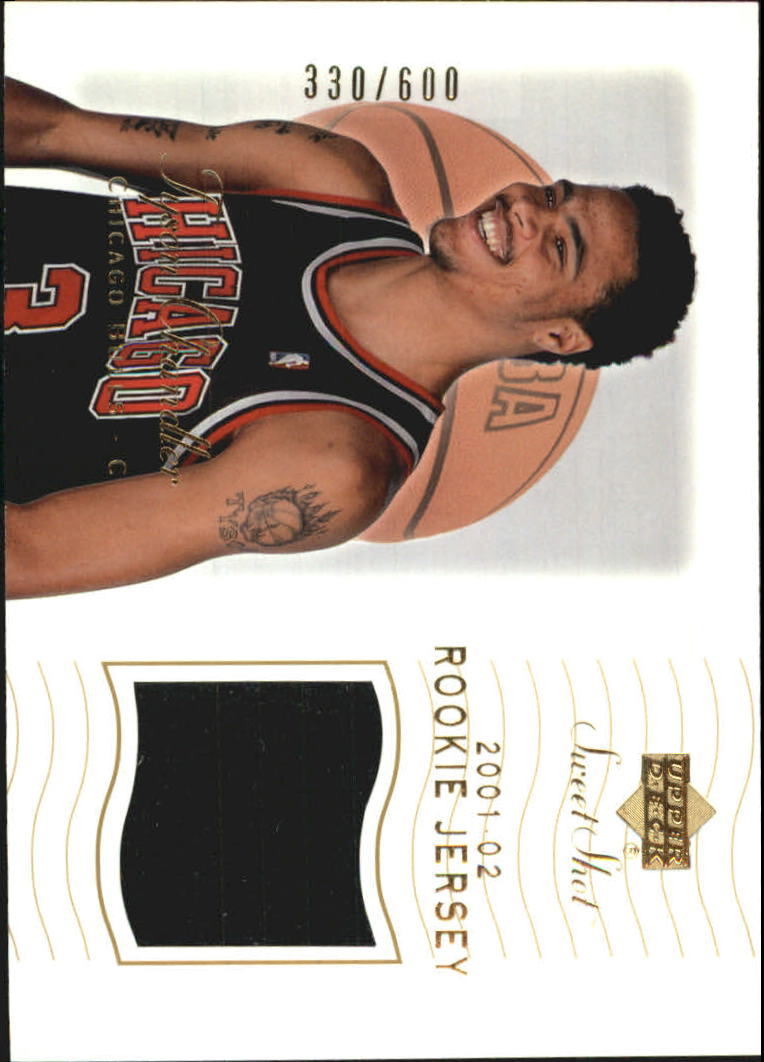 2001-02 Sweet Shot Rookie Memorabilia #113 Tyson Chandler