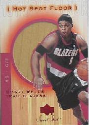 2001-02 Sweet Shot Hot Spot Floor #BWF Bonzi Wells