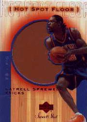 2001-02 Sweet Shot Hot Spot Floor #LSF Latrell Sprewell