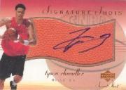 2001-02 Sweet Shot Signature Shots #TCS Tyson Chandler