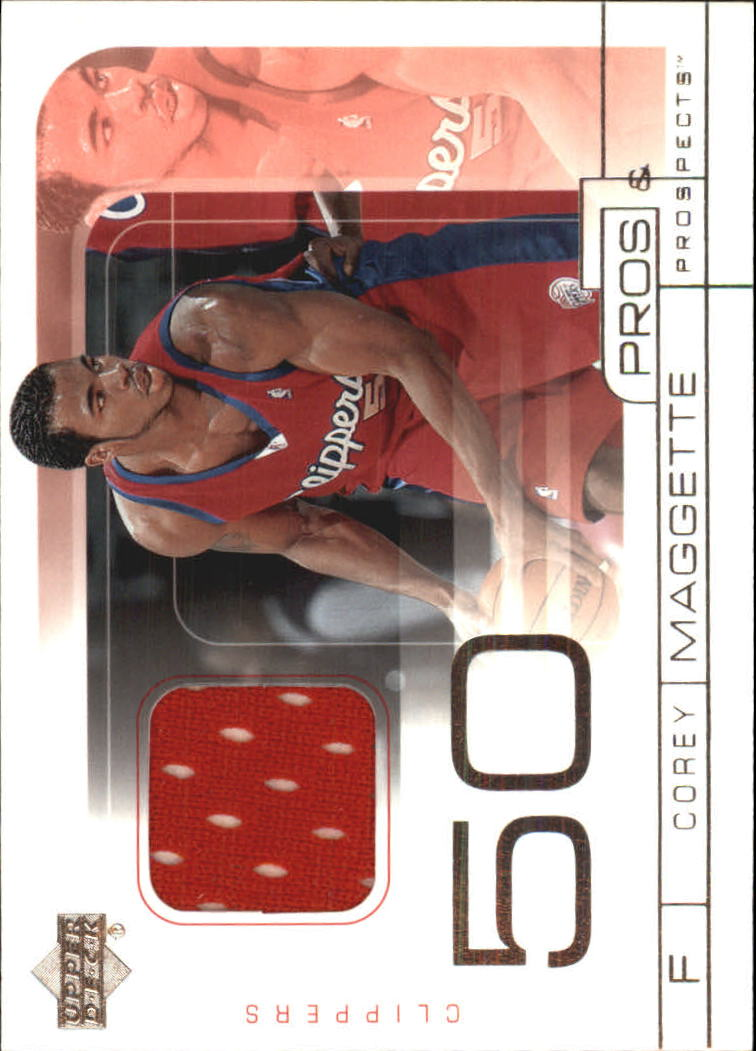 2001-02 Upper Deck Pros and Prospects Game Jerseys #CO Corey Maggette