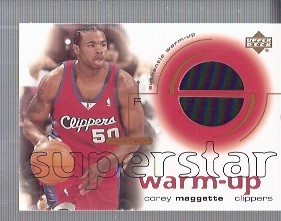 2001-02 Upper Deck Ovation Superstar Warm-Ups #CM Corey Maggette