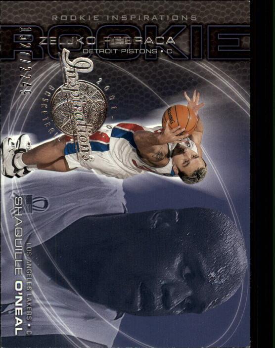 2001-02 Upper Deck Inspirations #91 Zeljko Rebraca RC/Shaquille O'Neal