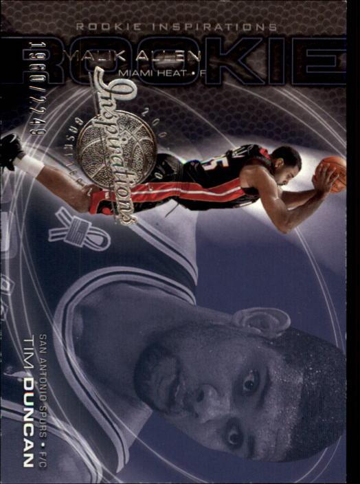 2001-02 Upper Deck Inspirations #97 Tim Duncan/Malik Allen RC