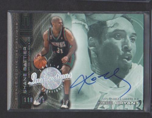 2001-02 Upper Deck Inspirations #106 Kobe Bryant AU/Shane Battier RC