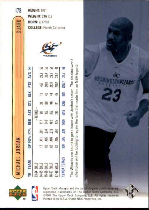 2001-02 Upper Deck #178 Michael Jordan back image