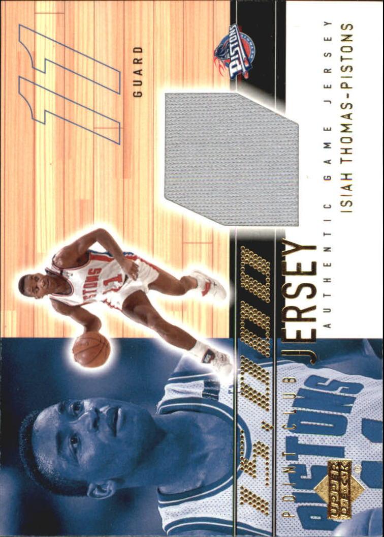 2001-02 Upper Deck 15000 Point Club Jerseys #IT15K Isiah Thomas