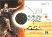 2001-02 Upper Deck Game Jerseys Autographs 1 #CHA Chris Mihm
