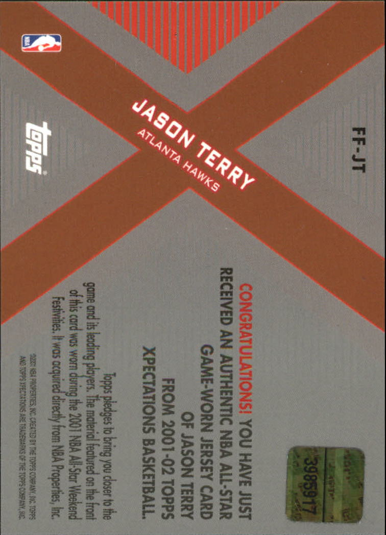 2001-02 Topps Xpectations Future Features #FFJT Jason Terry back image