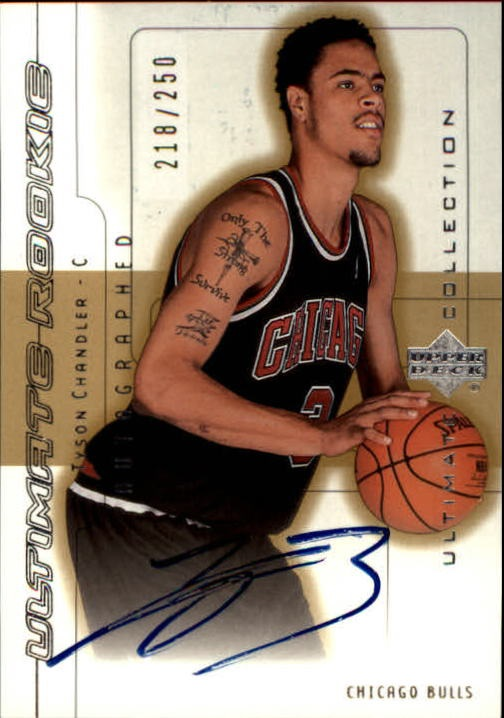 2001-02 Ultimate Collection #89 Tyson Chandler AU RC