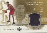 2001-02 Ultimate Collection Jerseys Patches Gold #TCP Tyson Chandler