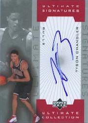 2001-02 Ultimate Collection Signatures #TCA Tyson Chandler