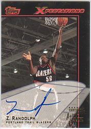2001-02 Topps Xpectations Autographs #TXAZR Zach Randolph